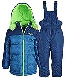 Ixtreme Little Boys Down Alternative Bubble Snowsuit Ski Bib and Jacket Set - Navy (Size 4T)