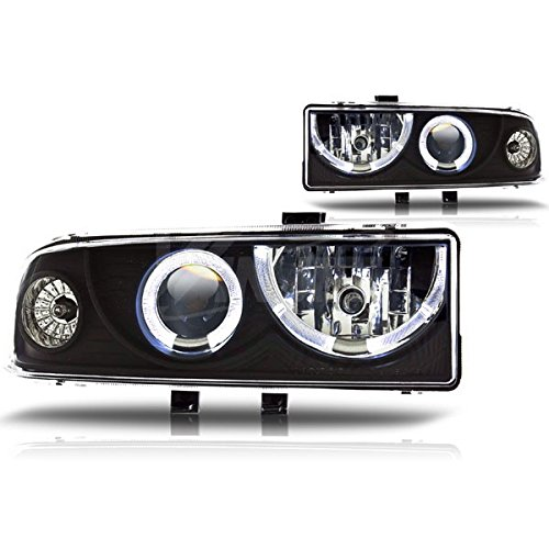 Starr Lite 98-04 Chevy S10 / 98-05 Chevy Blazer Halo Projector Head Lights - (Black / Clear)