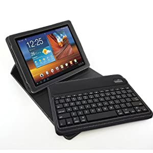 Blurex D-Lux Leather Folio Keyboard Case For The Samsung Galaxy Tab 2 10.1