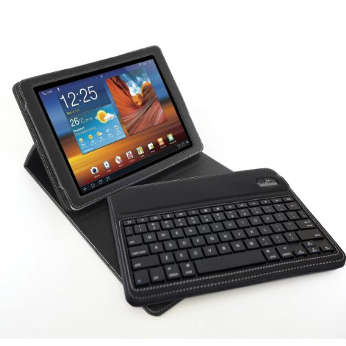 Blurex D-Lux Leather Folio Keyboard Case For
