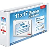 Cardinal 11-Inch x 17-Inch, ClearVue Slant-D Ring Binder, 3-Inch, White (22142)