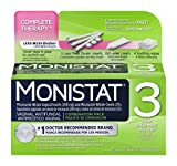 Monistat 3-Day Vaginal Antifungal | Complete Therapy Combination Pack | 3 Ovule Inserts, Itch Relief Cream, and Soothing Wipes