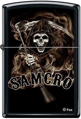 Zippo, Accendino, motivo: Sons of Anarchy, colore: Nero