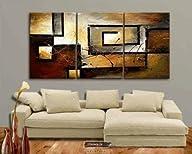 Mars Art 100% Hand Painted Oil Painting Abstract Art Large Modern Art 3 Piece Wall Art Canvas Art…