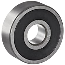 NSK 600 Series Deep Groove Ball Bearing, Single Row, Double Sealed, Non-Contact, Pressed Steel Cage, Normal Clearance, Metric