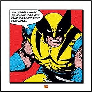 Amazon.com: Wolverine - Framed Retro Style Comic Art Print