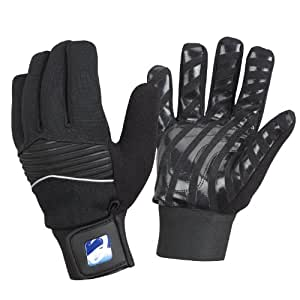 Elite Cycling Project Men's Wind/ Waterproof Cycling Gloves Silicon Grip Palms - Black, Medium