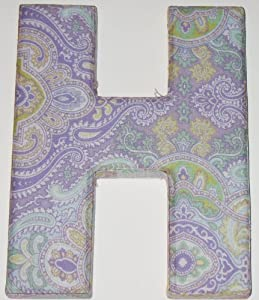 Fabric covered letter h monogram home kitchen for Fabric covered letters