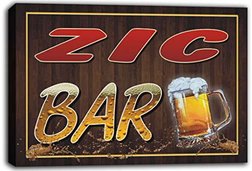 scw3-078543-zic-name-home-bar-pub-beer-mugs-cheers-stretched-canvas-print-sign