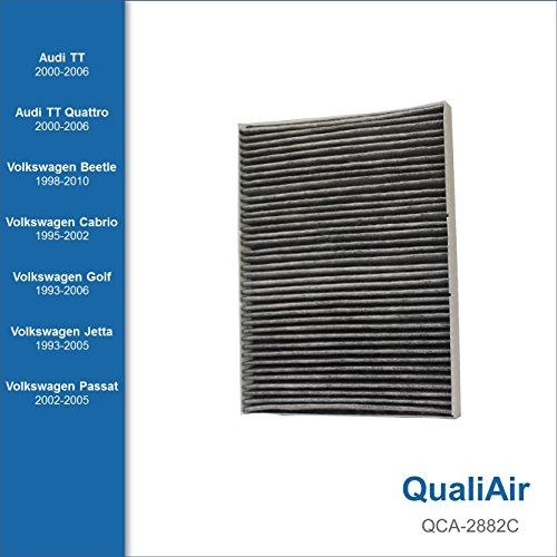 QualiAir QCA-2882C, Activated Carbon Cabin Air Filter for Audi, Volkswagen