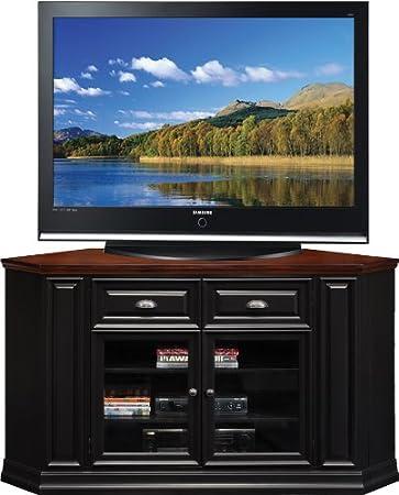"Leick Furniture 62"" Corner TV Stand, Black Rub"