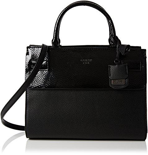 guess-damen-cate-satchel-handtaschen-schwarz-nero-one-size