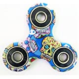 WOBBOX Fidget Spinner High Speed 1-3 Min Smooth Spin With Lowest Sound And Light Weight (Camouflage Blue Skull)