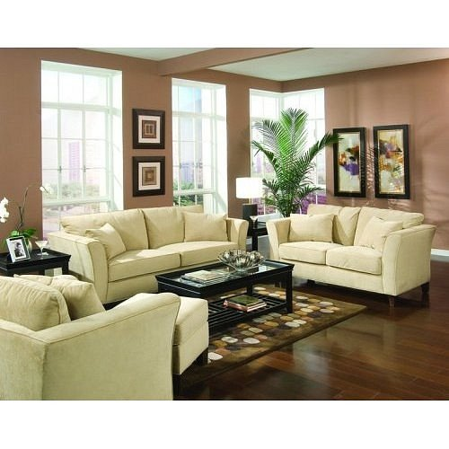 Picture of Coaster 2 Pcs Retro Contemporary Velvet Sofa And Loveseat Living Room Set (VF_AZ04-17800) (Sofas & Loveseats)