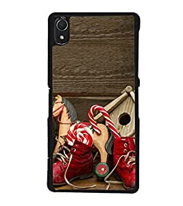 Red Boots with Toys 2D Hard Polycarbonate Designer Back Case Cover for Sony Xperia Z3 :: Sony Xperia Z3 Dual :: Sony Xperia Z3 D6633