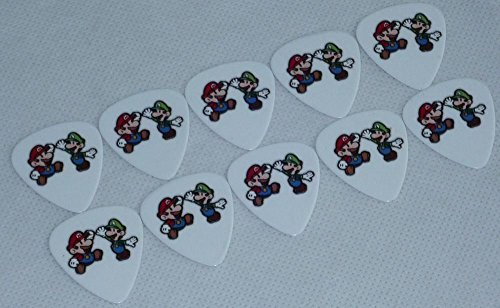 Guitar Picks Super Mario Bros. 2-sides Color Printing, 10 Pcs