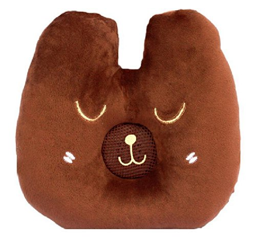 Cartoon Animal Dark Brown Bear Design Therapy Music Speaker Sound Asleep Sleeping Pillow W/ 3.5Mm Plug