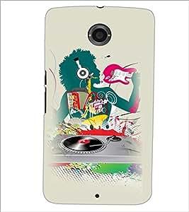 PrintDhaba Abstract Design D-3044 Back Case Cover for MOTOROLA GOOGLE NEXUS 6 (Multi-Coloured)