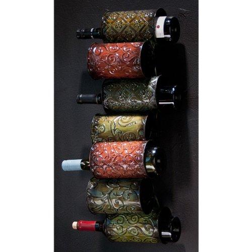 """Grazia Wall Mount Wine Storage (Multicolored) (25""""H x 7.5""""W x 7.25""""D)"""