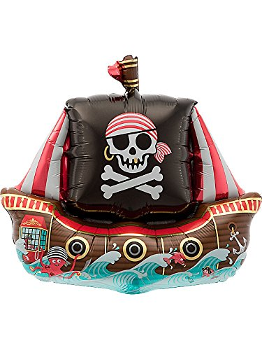 "14"" Airfill Self Sealing Balloon Pirate Ship - 1"