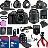 Nikon D3300 Camera with Nikon 18-55mm VR Lens Al's Variety Premium Bundle with Deluxe Backpack + XIT 3Pc Filter Kit + XIT Wide Angle Lens + XIT Telephoto Lens + Spider Flexible Tripod + Extra High Capacity Battery + Extra AC/DC Rapid Charger + 2pcs 16GB Bandwidth Memory Cards + 24pc Accessory Bundle Kit