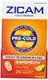 Zicam Cold Remedy RapidMelts +C, Citrus, 25 Quick Dissolve Tablets (Pack of 2)