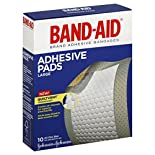 Band-Aid Adhesive Pads, Large, 10 pads