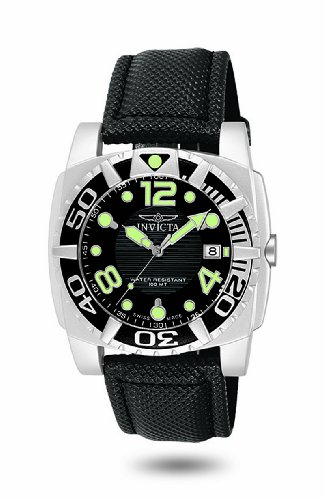 INVICTA MANS ALUMINUM DIVER WATCH SWISS RONDA MOVT BLACK DIAL 7005