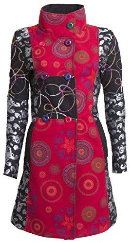 Sehr schöner Damen Luxus Winter Mantel Patchwork Trenchcoat 36 38 40 42 44 45 in 12 Farben