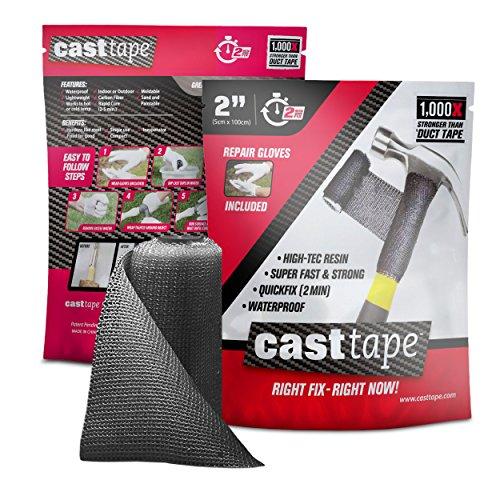 CASTtape - Super Epoxy Carbon Fiber Tape - 100x Strength of Duct Tape - Fix & Repair: Automotive, Plumbing, Pipe & Hose, Emergency, DIY - 2
