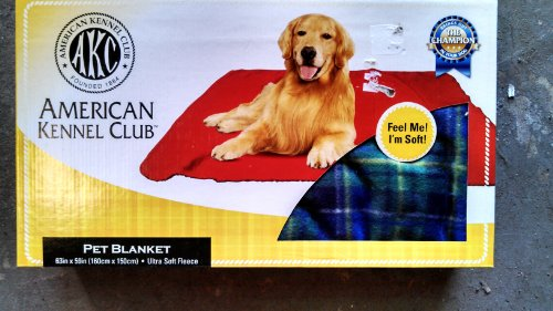 American Kennel Club Pet Blanket - Green/Blue