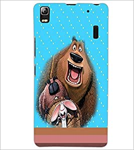 PrintDhaba Funny image D-4696 Back Case Cover for LENOVO A7000 (Multi-Coloured)