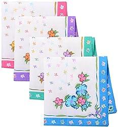 Generic Women's Handkerchief, Set of 12 ( Multi-Coloured )