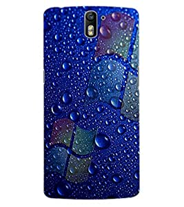 ColourCraft Water Drops Design Back Case Cover for OnePlus One