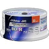 ビクター 映像用ブルーレイディスク 1回録画用 25GB 4倍速 保護コート(ハードコート) ワイドホワイトプリンタブル 20枚 BV-R130T20W