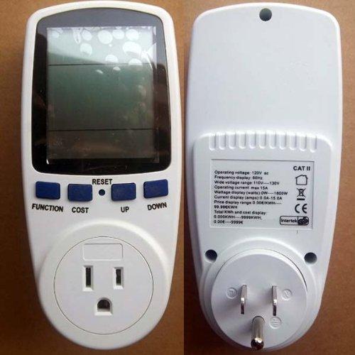 USA Energy Meter, Watt Voltage Volt Meter Monitor Analyzer with Power Factor dav