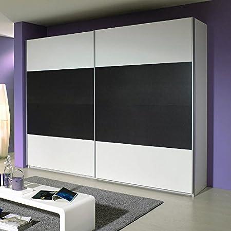 Kleiderschrank »QUAT221« weiß, grau-metallic 271cm