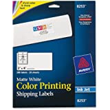 Avery Matte White Color Inkjet Printing Labels (AVE8253)