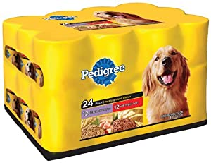 Pedigree Meaty Ground Dinner Mixed Chunky Beef and Chunky Chicken, 22-Ounce (Pack of 24)