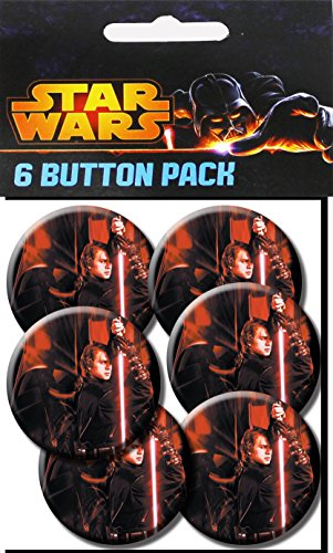 C&D Visionary Star Wars AnakinStar Wars 1.5 Inch Button, (6-Piece)