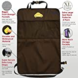 THE #1 LARGEST Car Kick Mats + BackSeat Organizer for Kids 2 Pk ✮ Auto Seat Cover Protectors for the Back of Your Front Seat to Organize and Your Seats Clean from Mud & Stains
