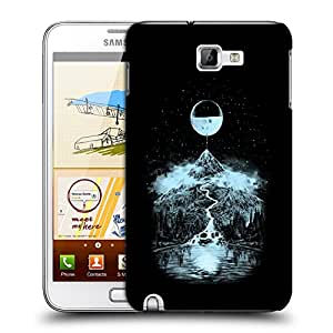 Snoogg Moon Mountain Designer Protective Back Case Cover For Samsung Galaxy Note 1