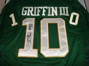 Robert Griffin III Signed Baylor Besars Jersey, Heisman 2011 Inscription