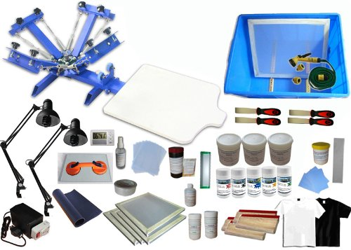 4 Color 1 Station T-shirt Printing Kit B