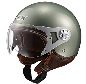 ... Style Open Face Motorcycle Helmet (Portofino Green, Small): Automotive