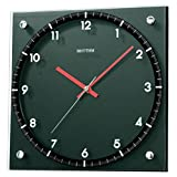 Rhythm Black Square Wooden Wall Clocks 28x28x5Cm