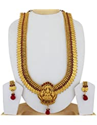 Sthrielite Temple Stone Traditional Lakshmi Coin Haram Set