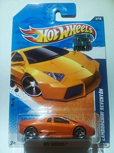 2011 Hot Wheels Factory Sealed Set Exclusive Hw Garage 3/10 - Lamborghini Reventon - Orange