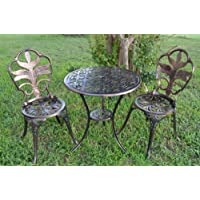 Antiqued Bronze Bistro Set - Table and Two Chairs for Yard, 3 Pieces Product SKU: PB11123