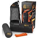 Ahletics Gold Standard Foam Roller GRID For Muscle Massage FREE BONUS Yoga Strap